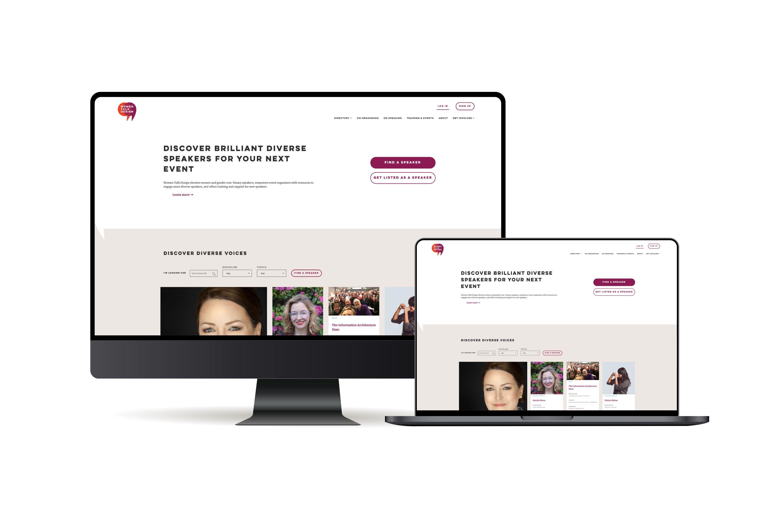Women Talk Design website preview