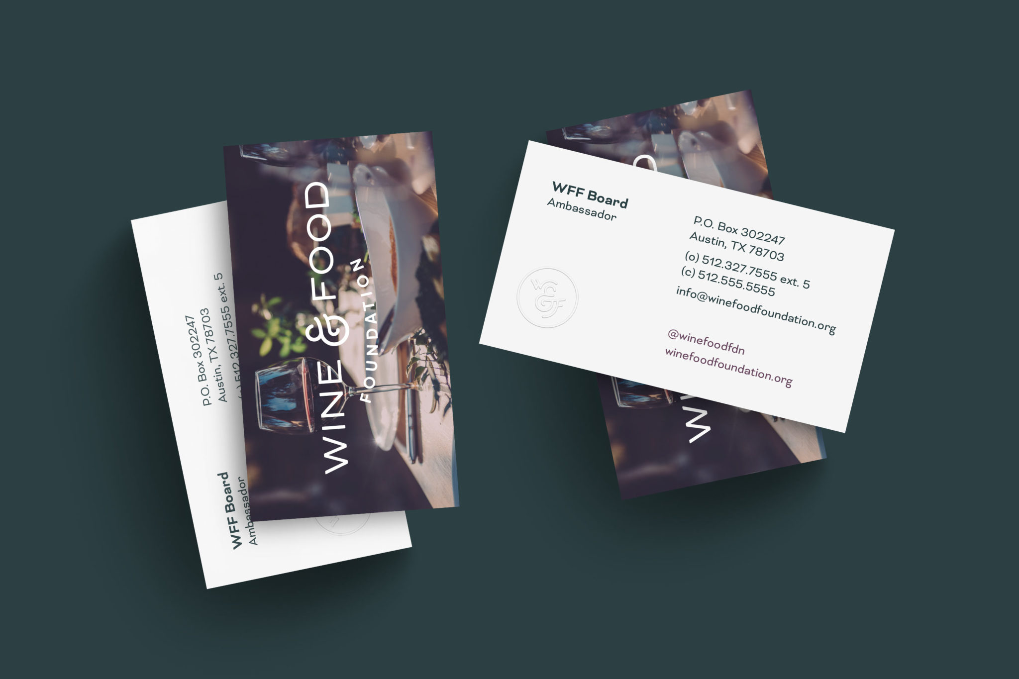 Wine & Food Foundation Business Cards